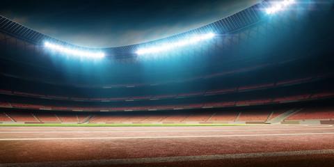 Lamas personalizadas de deportes con tu foto Stadium with running track