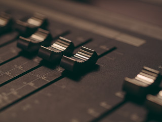 Audio Mixing Console in a Music Recording Studio