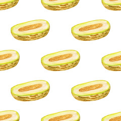 Seamless pattern with melon