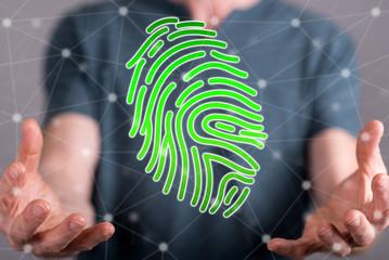 Concept of fingerprint security system
