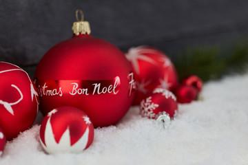 Bon Noel als Gruß zu Weihnachten