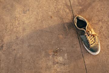Sneaker abandoned