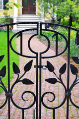 Iron Gate and Brick Footpath,
