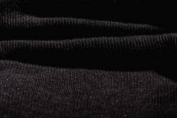 Black cotton fabric texurted