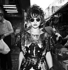 Rock Girl at an Old Jerusalem Street