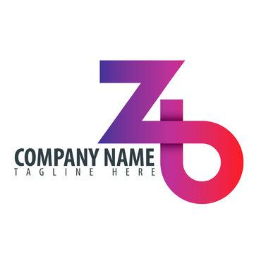 Initial Letter ZB Design Logo