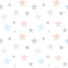 cute hand drawn pastel stars seamless vector pattern background illustration