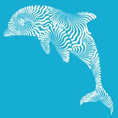 Dolphin graphic illustration