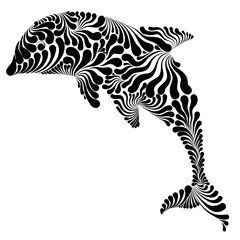 Dolphin graphic illustration