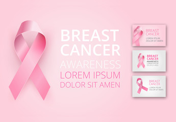 Breast Cancer Awareness Card Layout