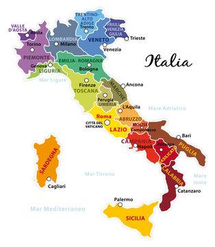 Cartina Lombardia E Piemonte.2 116 Best Mappa Italia Images Stock Photos Vectors Adobe Stock
