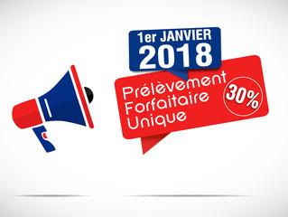 mégaphone janvier 2018 : 30% PFU