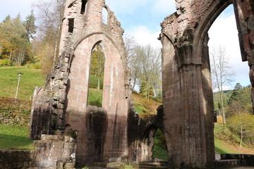 """Teile der Klosterruine """"Allerheiligen"""" im Schwarzwald"""