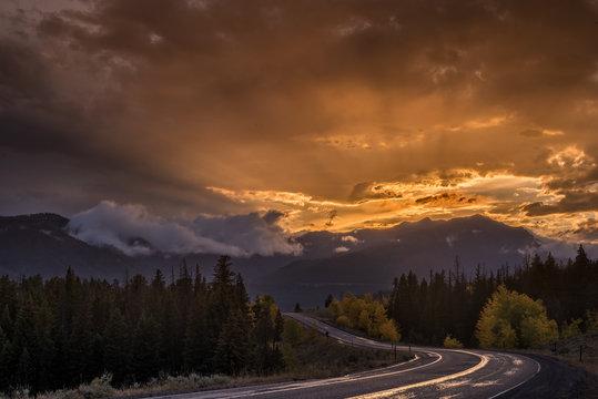 Beartooth Highway Sunset Wyoming