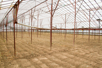 empty greenhouse for new vegetables