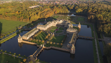 Aerial view of Nordkirchen moated castle in Germany, known as the Versailles of Westphalia