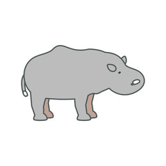 hippopotamus  vector illustration