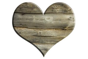 Altes Holzbrett - Herzform