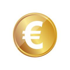 Gold Münze - Euro Zeichen