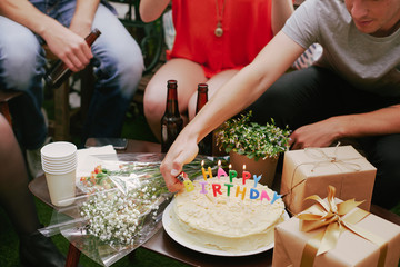 Friends at a birthday party