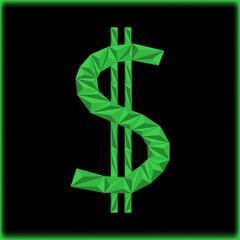 dollar icon. Icon of money. Vector illustration.