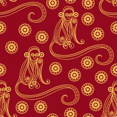 Seamless pattern with monkey 19