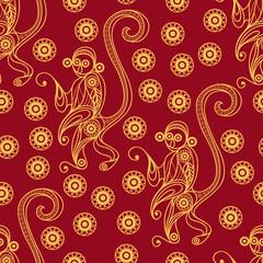 Seamless pattern with monkey 20