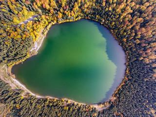 Saint Anna Lake, Transylvania, Romania aerial view