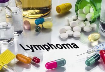 Lymphoma, Medicines As Concept Of Ordinary Treatment, Conceptual Image