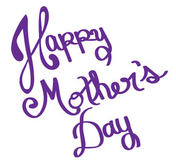 Happy Mother's Day Purple Lettering