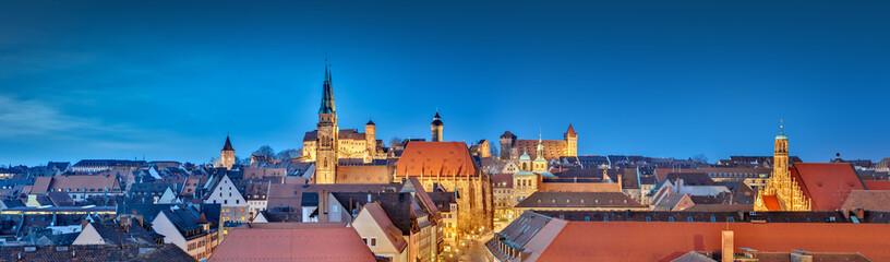Nürnberg Panorama bei Nacht
