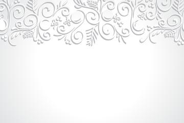 White on White Horizontal Christmas Holiday Background 1