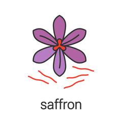 Saffron color icon