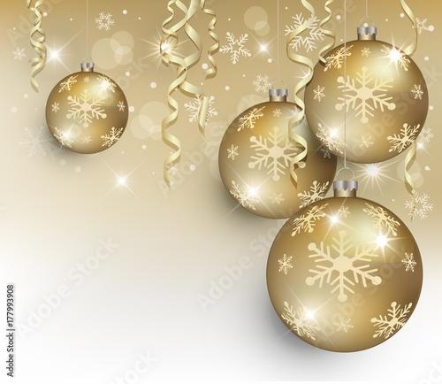 Merry christmas ball gold snowflake vector greeting card template merry christmas ball gold snowflake vector greeting card template background m4hsunfo