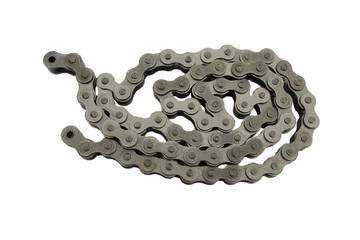 industrial driving roller chain isolated on white background