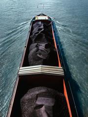 Cargo Ship Loaded With Tar