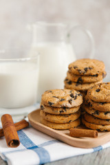 chocolate cookie with milk