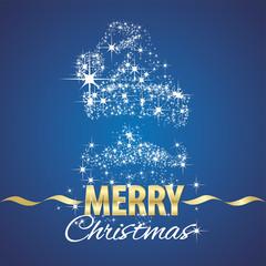 Christmas Santa Claus symbol stardust blue background