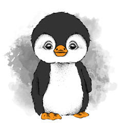 a cartoon penguin. Vector illustration