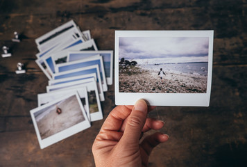Instant film vacation photos