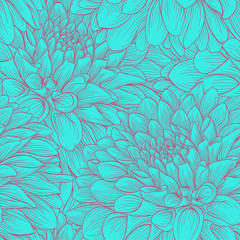 beautiful monochrome vintage colors seamless background dahlia Hand-drawn. Design for greeting cards and invitations of wedding, birthday, Valentine s Day, mother s day and other seasonal holiday