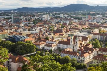 Town View & Rooftops, Graz, Austria