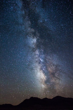 The Milky Way above the desert in Utah during a road trip west.