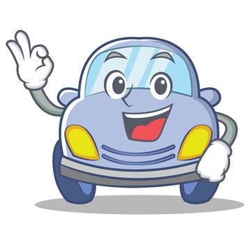 Okay cute car character cartoon