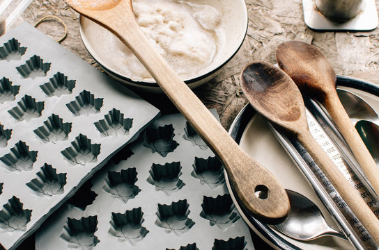 tools for making maple syrup candy and foam