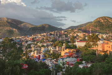 Beautiful view over colonial city of Guanajuato, Mexico