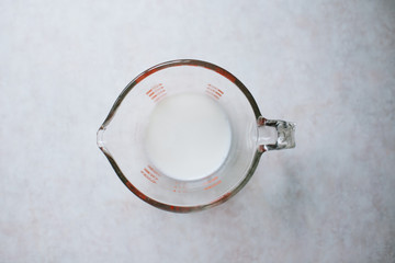 Milk In A Measuring Cup