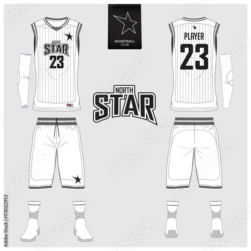 basketball uniform or jersey shorts socks template for basketball
