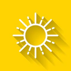 Sun Icon - Colorful Flat Icons, Summer season, weather