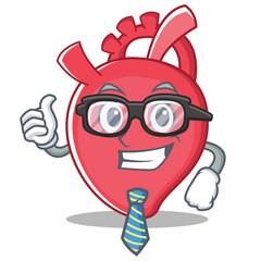 Businessman heart character cartoon style